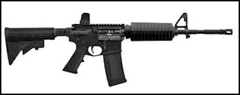 Military gun with polyurethane parts