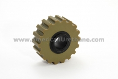 Wheel gripper in plywood manufacturing machine
