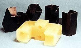 Custom molded urethane cradles