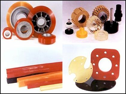 Collage of urethane parts