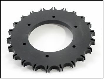 Polyurethane star wheel for assembly line