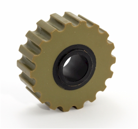 Wheel gripper for plywood manufacturing machine