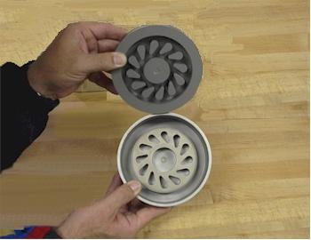 Aluminum master male pattern machined on CNC lathe